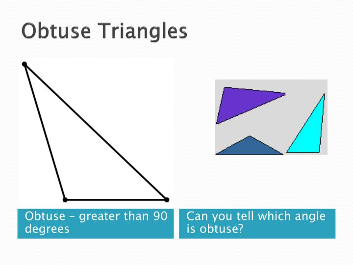 Obtuse Triangles