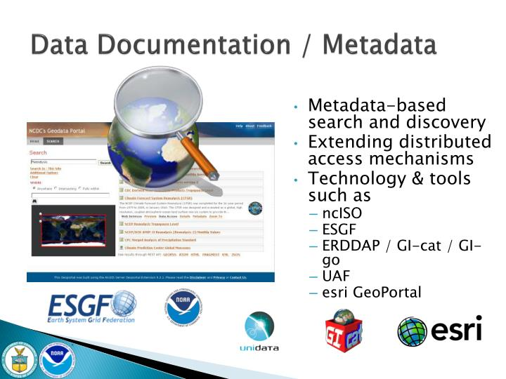 Data Documentation / Metadata