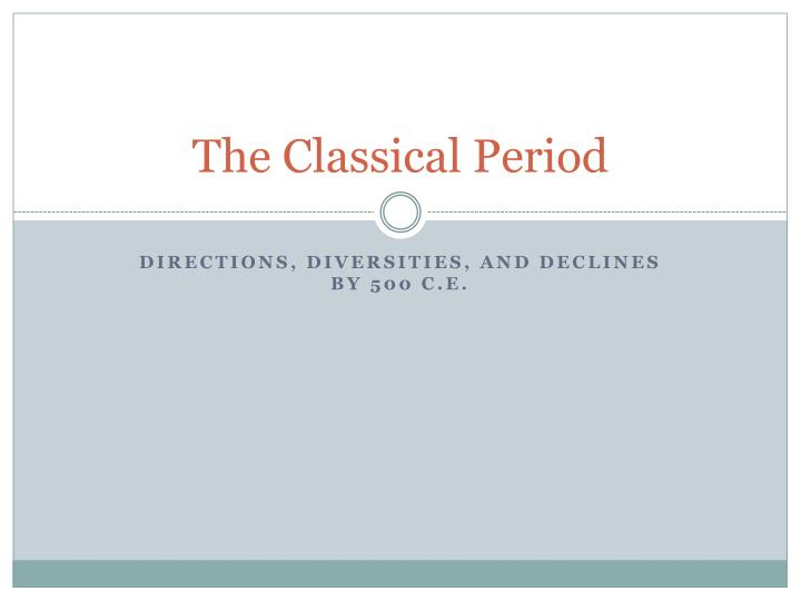 the classical period n.