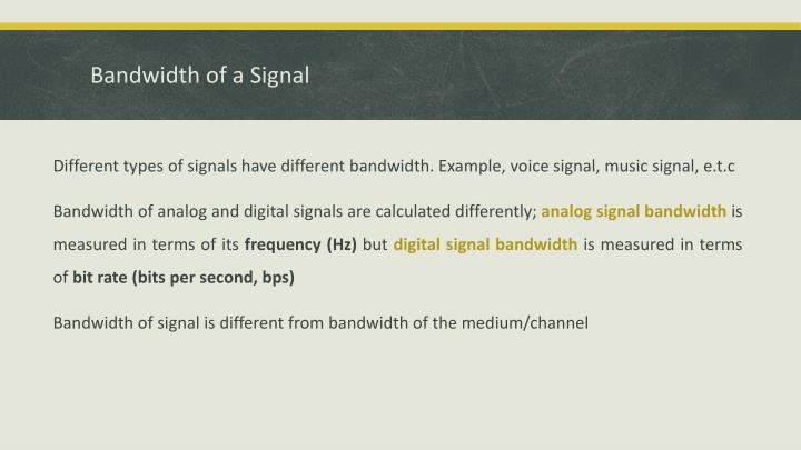 Bandwidth of a signal1