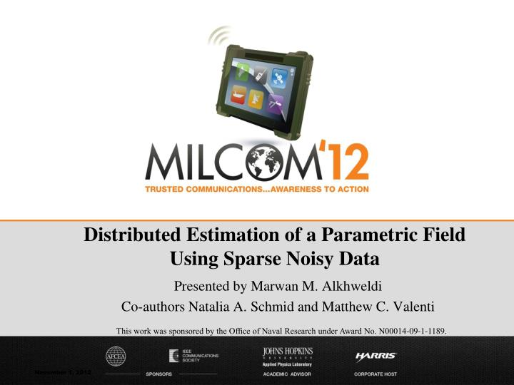 Distributed Estimation of a Parametric Field
