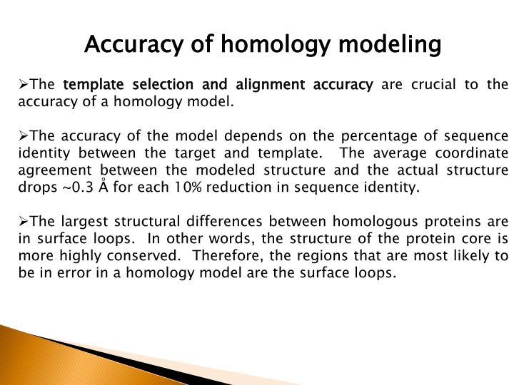 Accuracy of homology