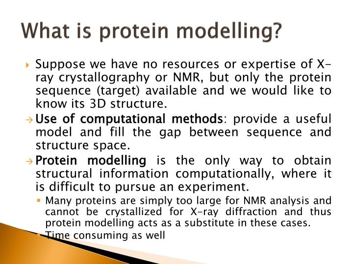 What is protein modelling