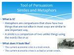 tool of persuasion similes and metaphors