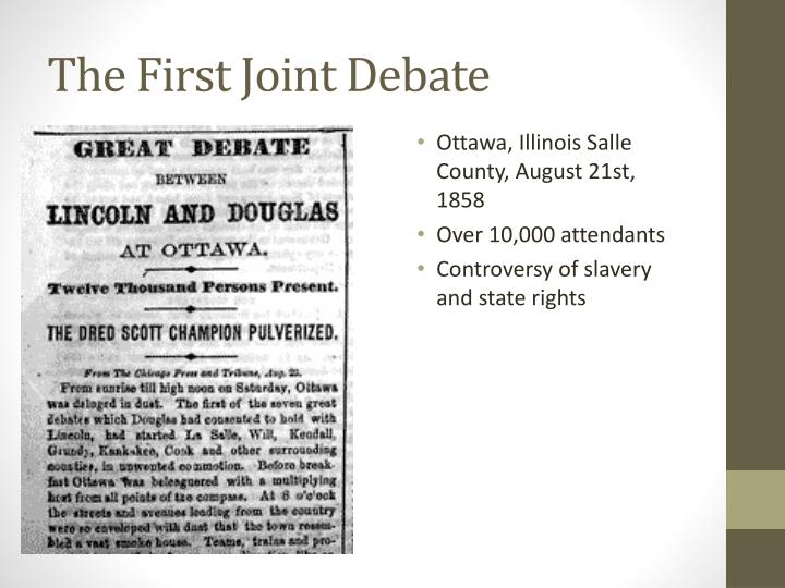 The First Joint Debate
