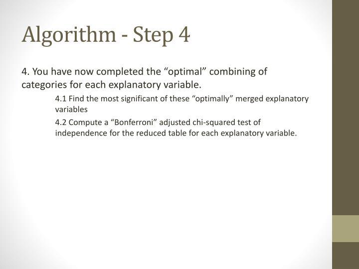 Algorithm - Step 4