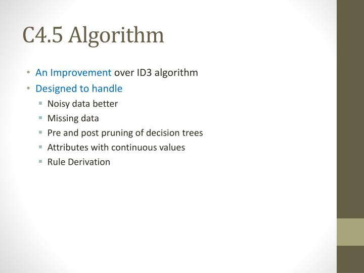 C4.5 Algorithm
