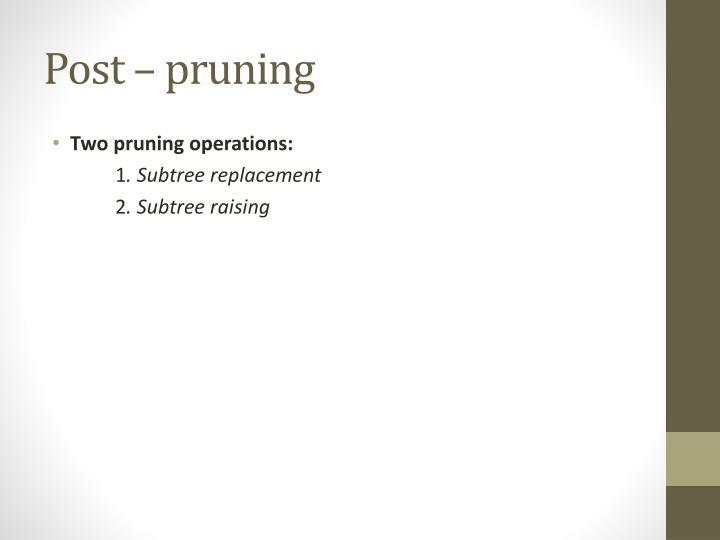 Post – pruning