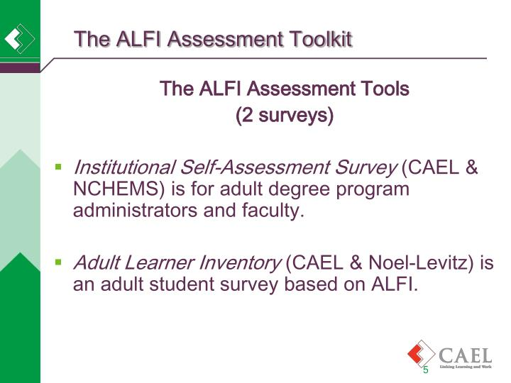 The ALFI Assessment Toolkit