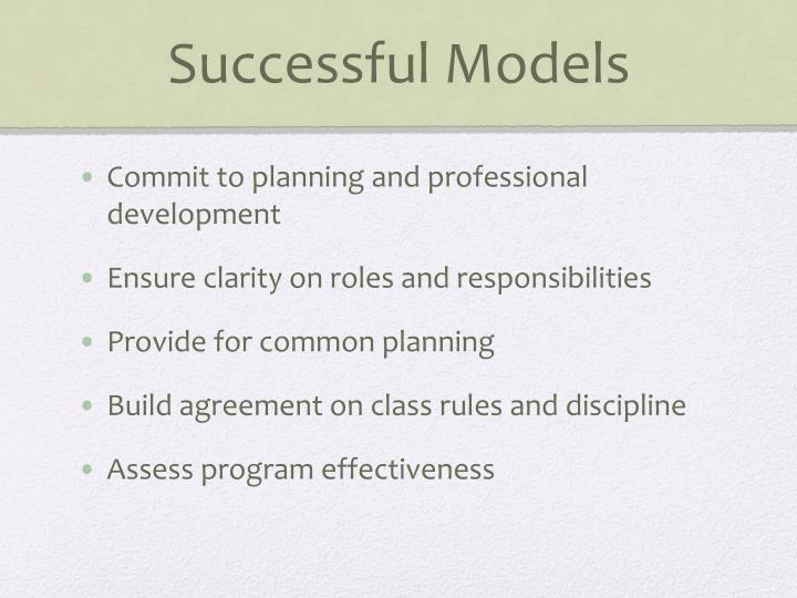 Successful Models