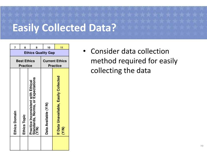 Easily Collected Data?