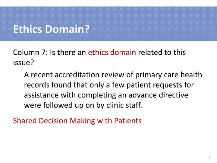 Ethics Domain?