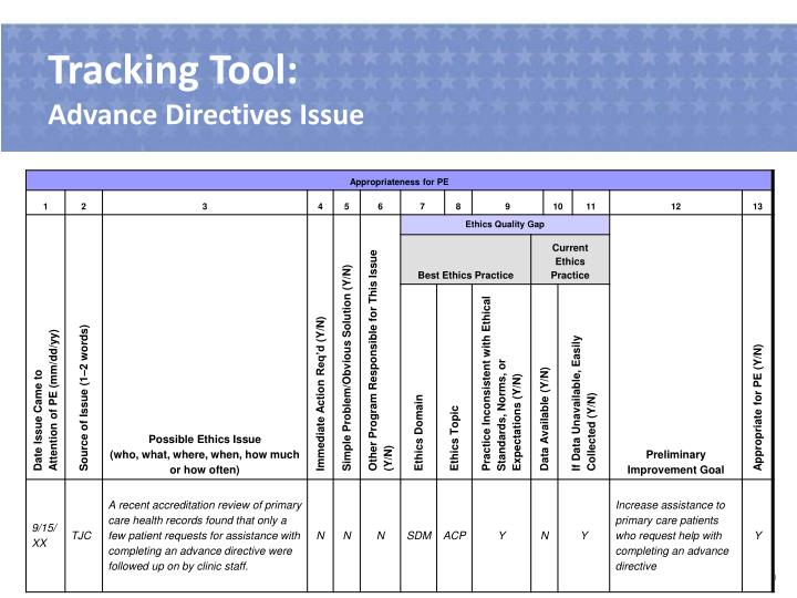 Tracking Tool:
