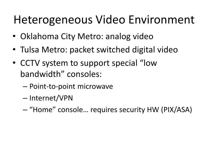 Heterogeneous Video Environment