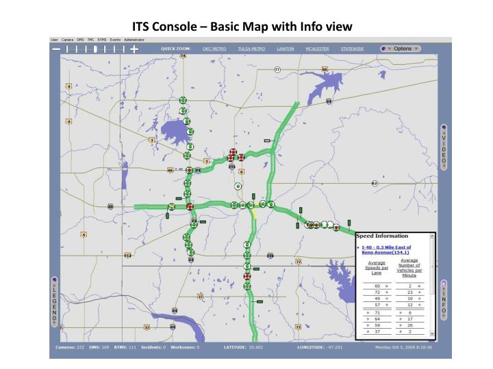ITS Console – Basic Map with Info view