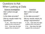 questions to ask when looking at data