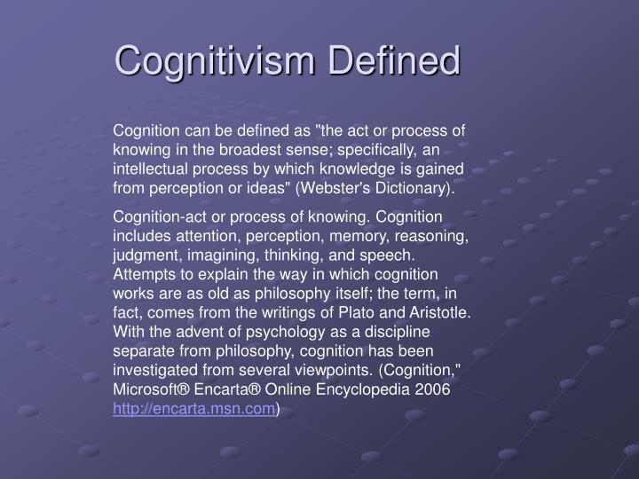 Cognitivism defined