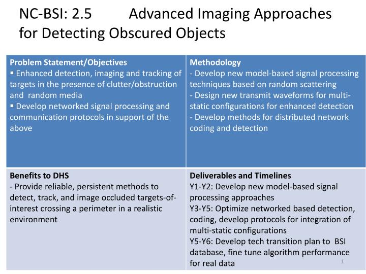 nc bsi 2 5 advanced imaging approaches for detecting obscured objects n.
