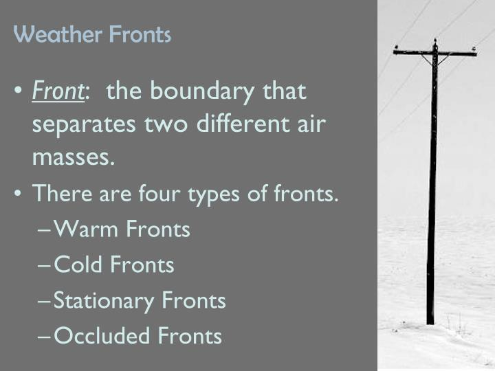 weather fronts n.