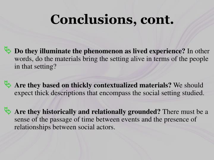 Conclusions,