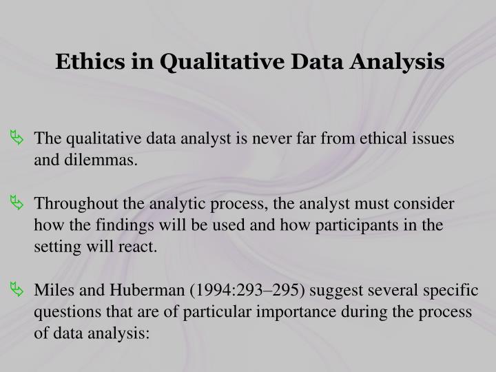 Ethics in Qualitative Data Analysis