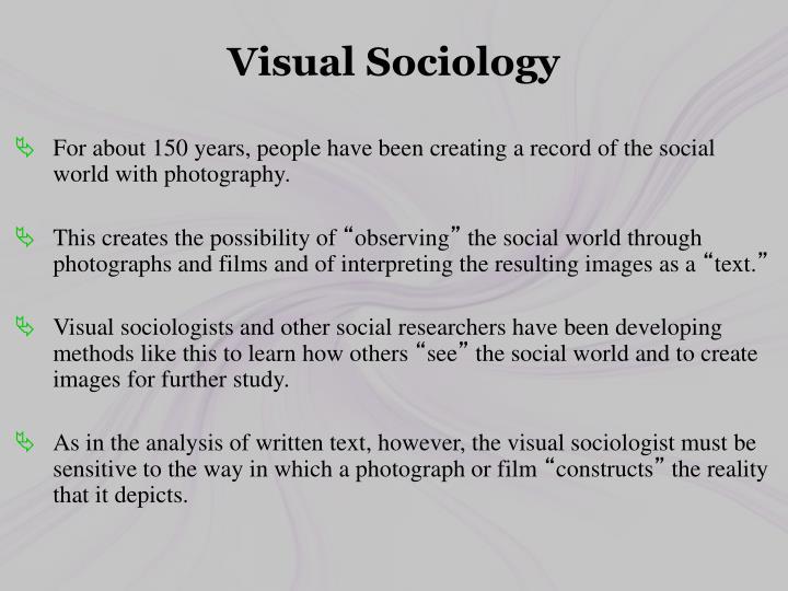 Visual Sociology