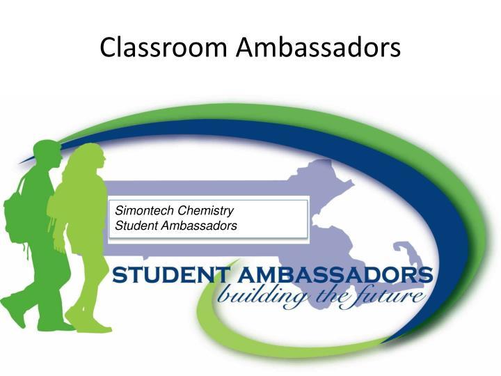 Classroom ambassadors