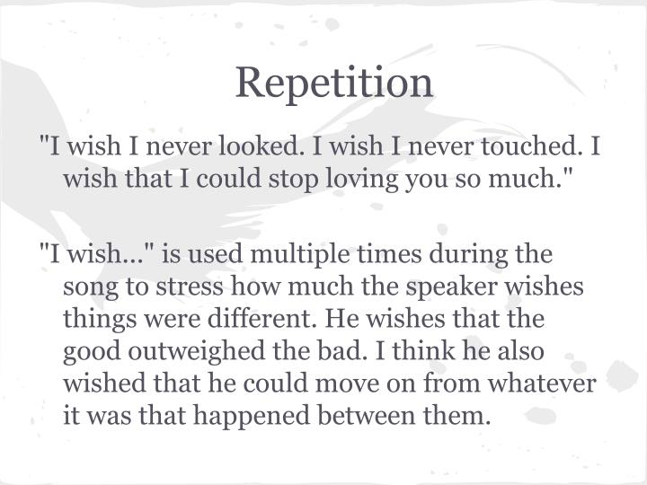 Repetition