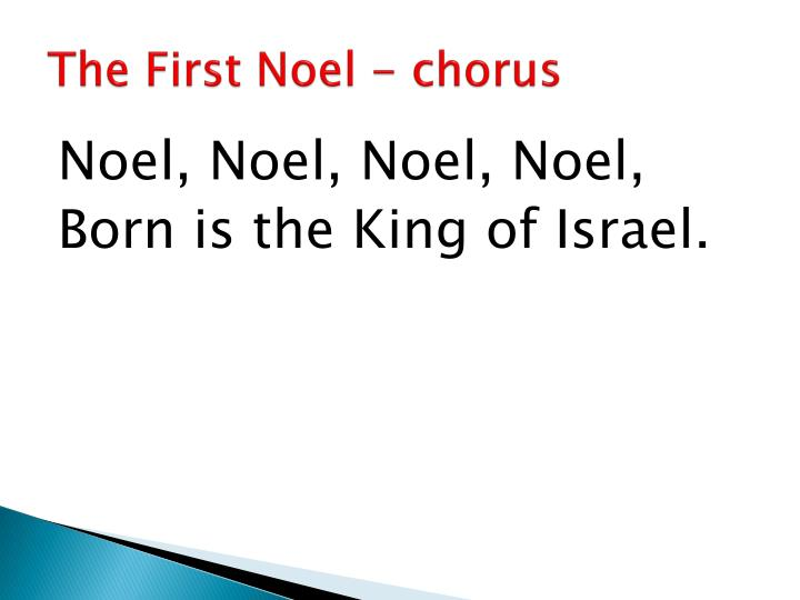 The first noel chorus