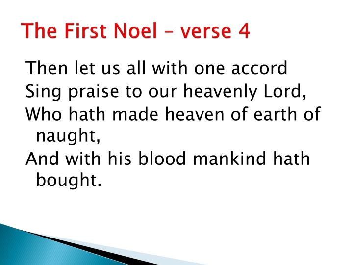 The First Noel – verse