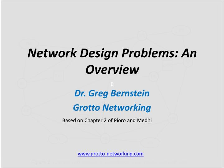 network design problems a n overview