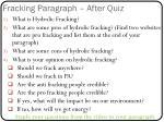 fracking paragraph after quiz