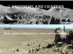 landforms and craters