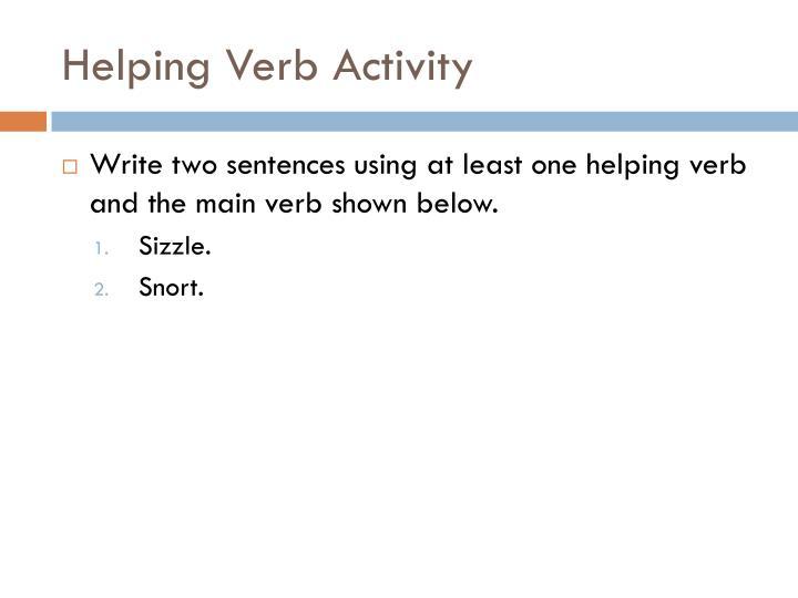 Helping Verb Activity