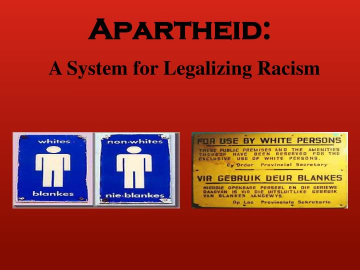 A System for Legalizing Racism