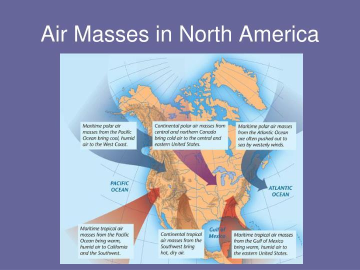 Air Masses in North America