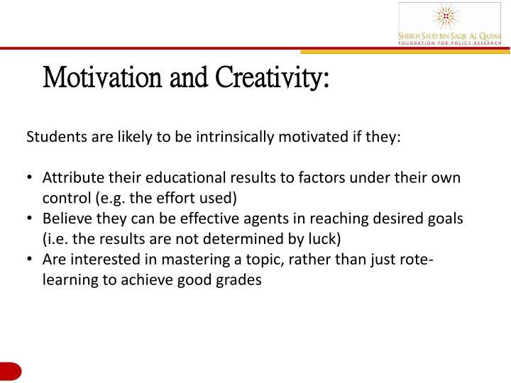 Motivation and Creativity: