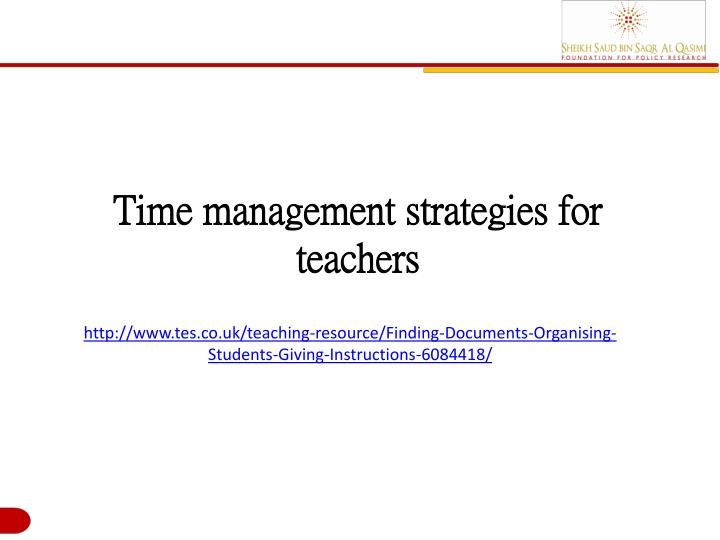 Time management strategies for teachers