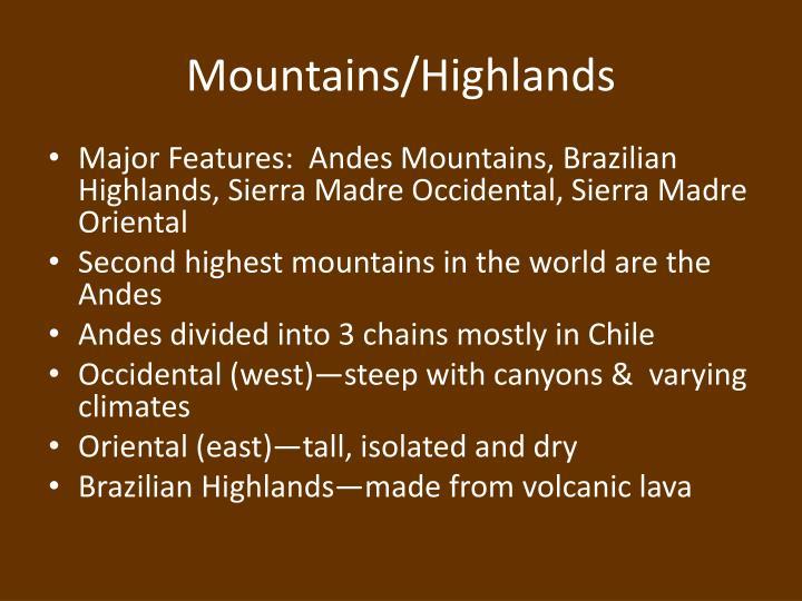 Mountains highlands