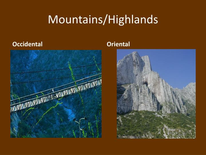 Mountains/Highlands