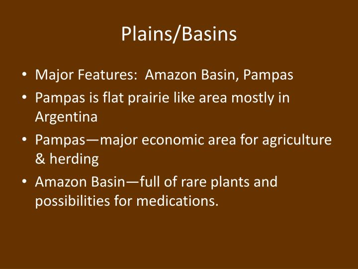 Plains/Basins