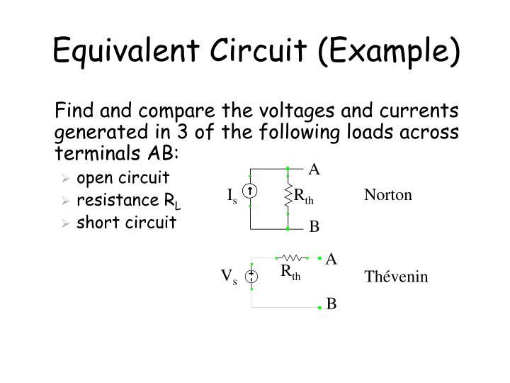 Equivalent circuit example