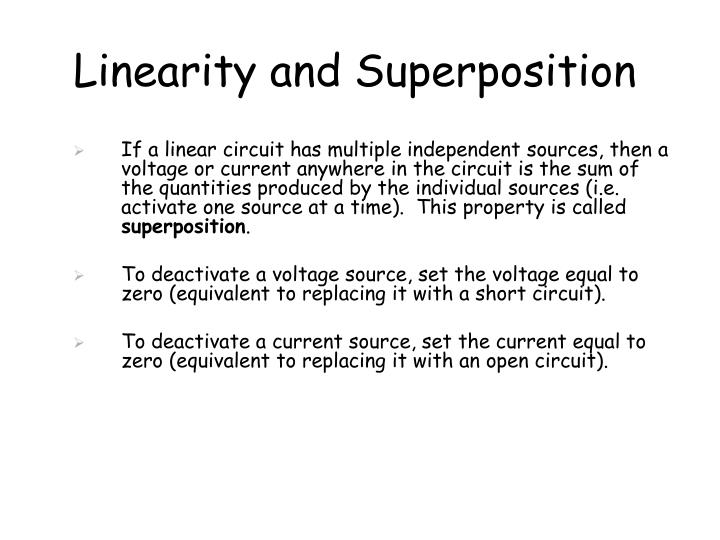 Linearity and Superposition