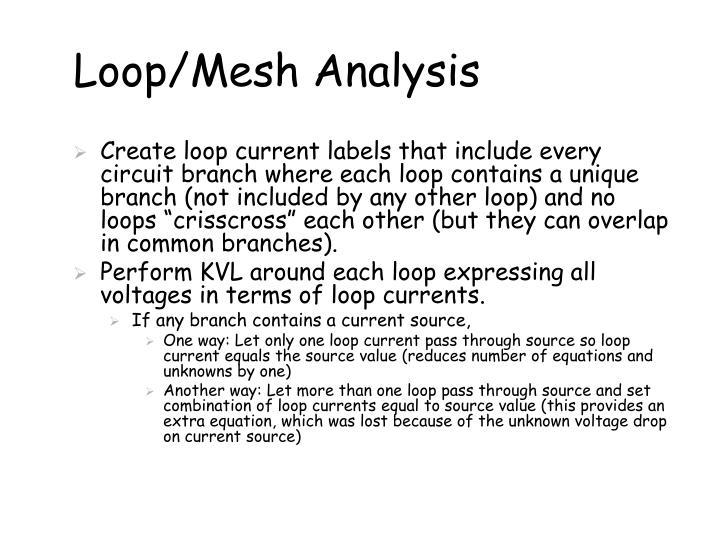 Loop/Mesh Analysis