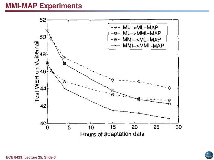 MMI-MAP Experiments
