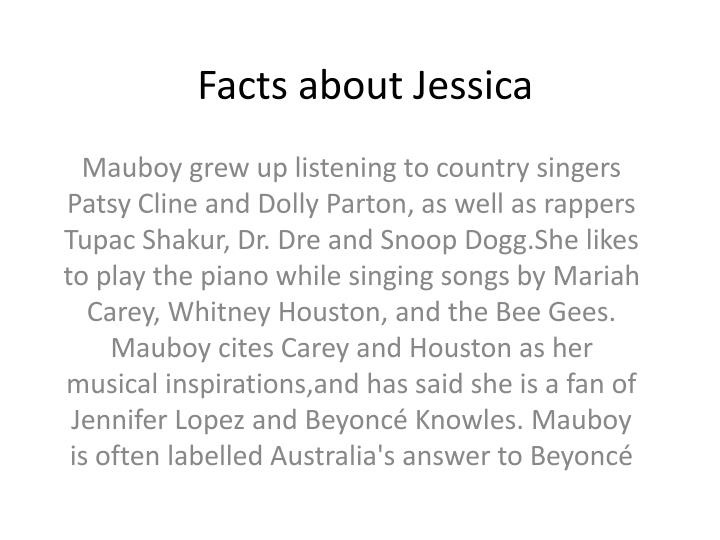 Facts about Jessica