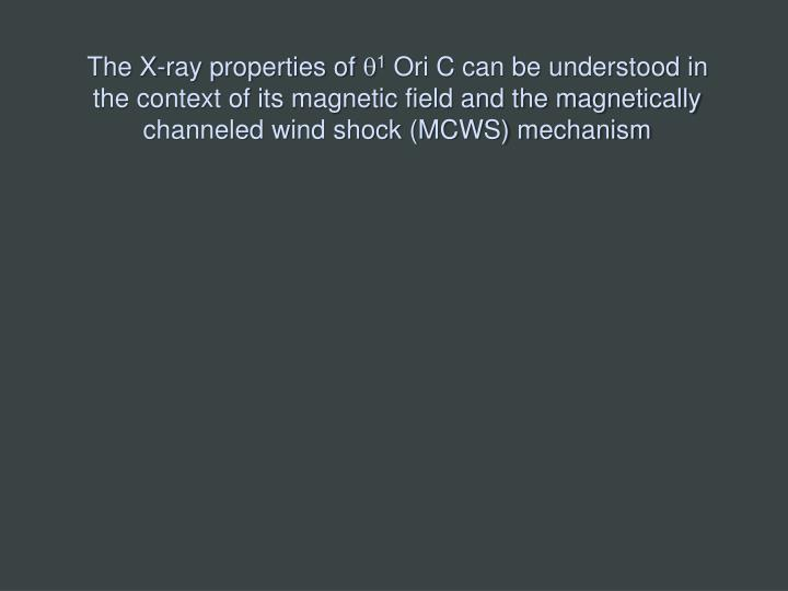 The X-ray properties of