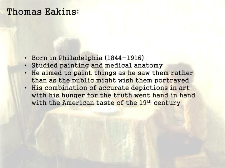 Thomas Eakins: