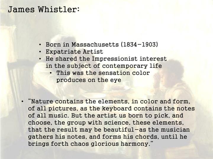 James Whistler: