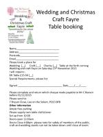 wedding and christmas craft fayre table booking
